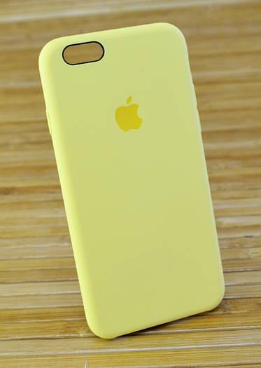 Силиконовый чехол на Айфон, iPhone 6 \ 6 s ORIGINAL ELITE COPY желтый