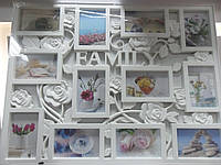Фотоколлаж Family 12 фото 10*15см белая арт.WB1712