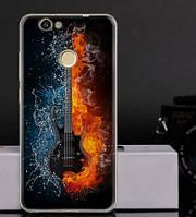 Чехол силиконовый бампер для Huawei Nova с рисунком гитара