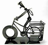 Техно арт подставка для ручек велосипедист металл