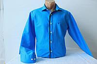 Чоловіча сорочка з довгим рукавом, приталена, берюзового кольору