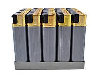 Зажигалки (Турбо пламя) Серебряная полоса BL506-30