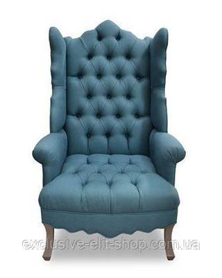 Кресло трон в кожзаме