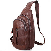 Кожаная мужская сумка через плечо рюкзак косуха барсетка натуральная кожа