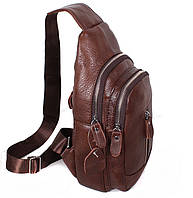 Кожаная мужская сумка через плечо рюкзак косуха барсетка 31х18х10см