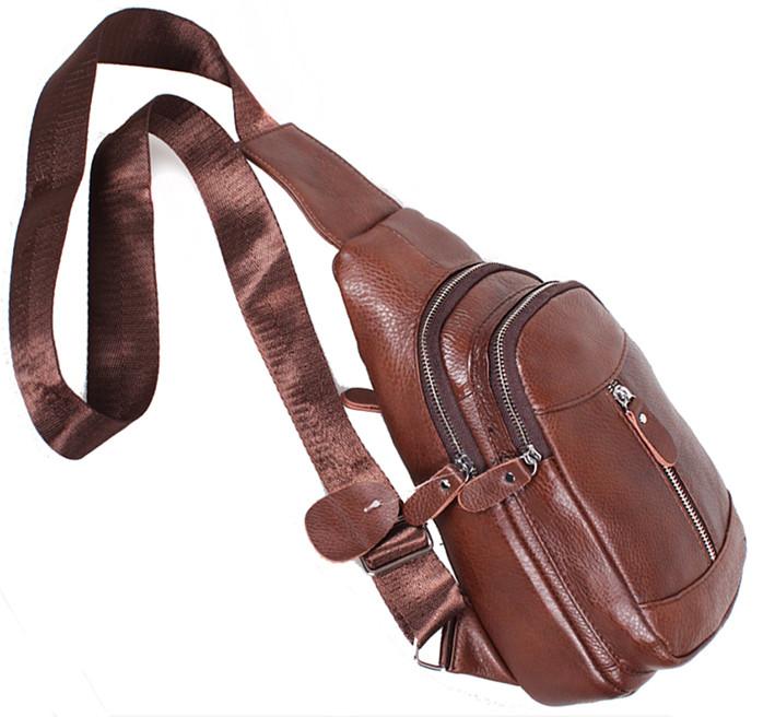 290aadba240e ... Мужская сумка кожаная рюкзак через плечо BON318-2 коричневый  31х18х10см, ...