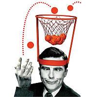 Баскетбольное кольцо на голову с шариками!