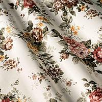Ткань Арес,  коричневый цветок