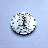 Реквизит для фокусов | Монета с предсказанием 3♦ (50 центов)
