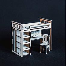 Кукольная мебель BigEcoToys Кровать