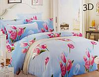 Комплект постельного белья 3D 160*200. Цвета разные