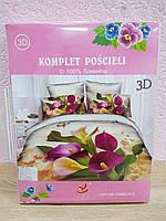 Купить  комплект постельного белья 3D 160*200. Цвета разные