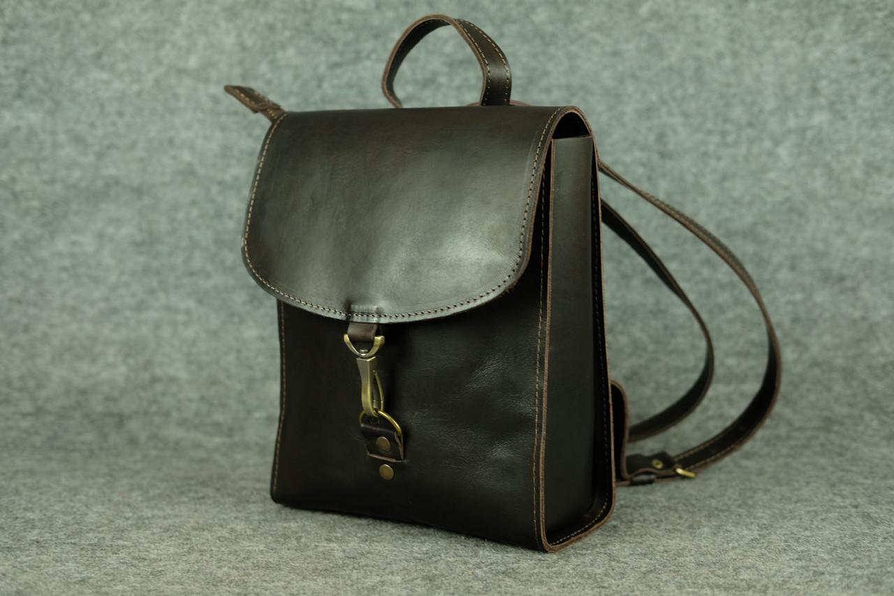 Кожаный коричневый рюкзак Marchen Кофе ручной работы для девушки ... bdec4bc15cd