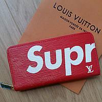 Кошелек Louis Vuitton Supreme на молнии