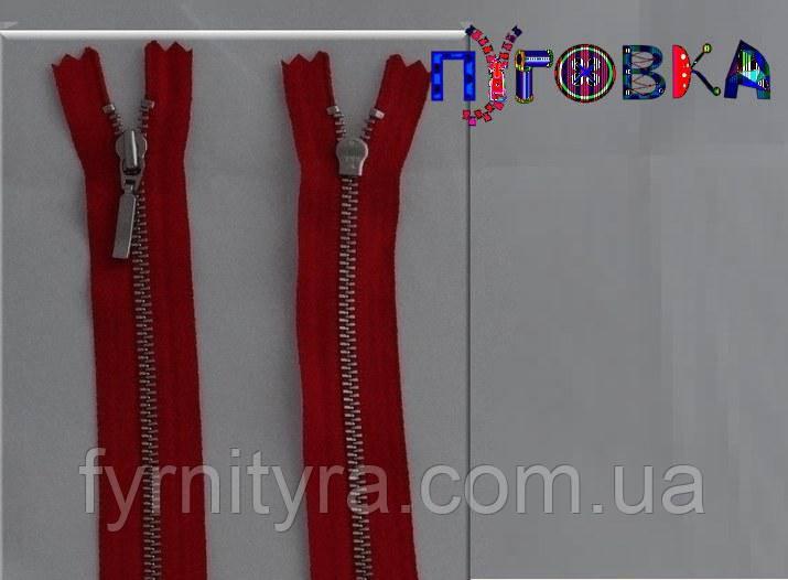 Металл YKK 18cm 520 темно-красная 1 бег №3 никель