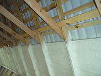 Пенополиуретан - внутренняя теплоизоляция мансарды, чердака, техэтажа. ППУ БАСФ, Германия