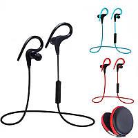Наушники Bluetooth влагоустойчивые с микрофоном для спорта футляр с LG-BH-Q10 black
