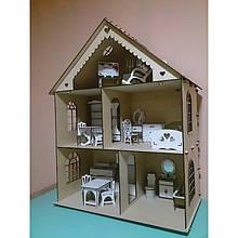 Трехэтажный дом для игрушек BigEcoToys