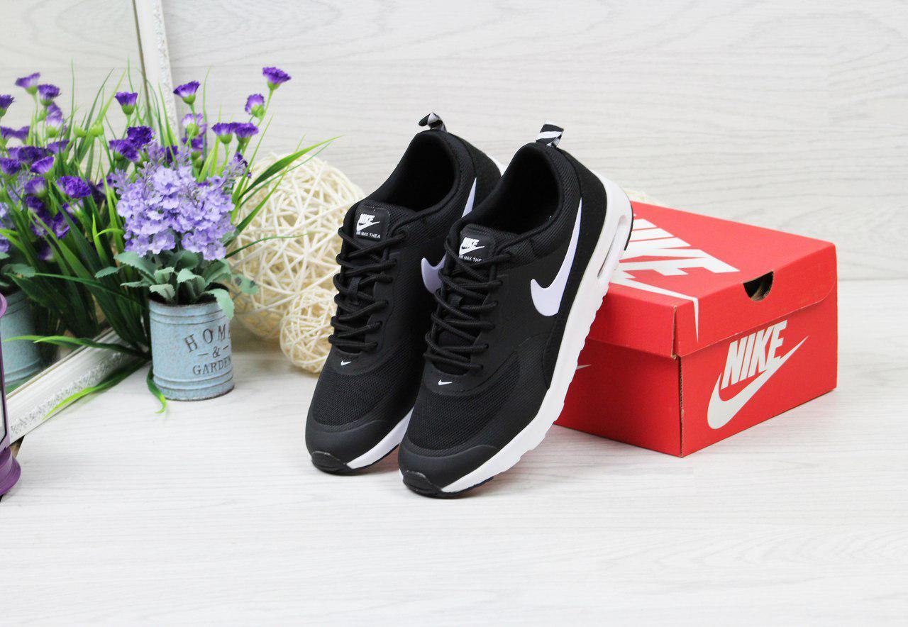 Кроссовки женские Nike Air Max Thea (черно-белые), ТОП-реплика