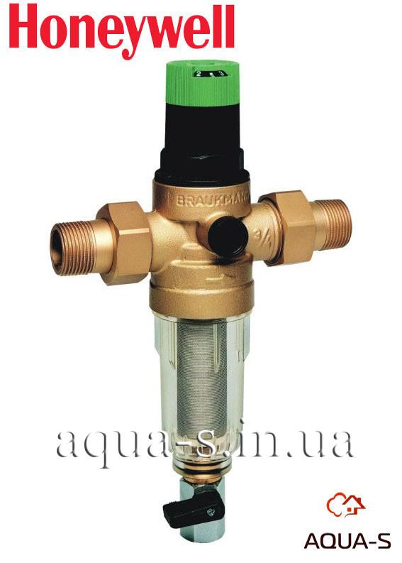 Фильтр тонкой очистки Honeywell FK 06-3/4ААМ (промывной) с редуктором давления (Германия)