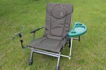 Крісло коропове з підставкою для вудки і бічним столиком M-Elektrostatyk F5R ST/P, фото 3