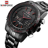 Мужские наручные кварцевые электронные часы Naviforce NF9024-BBR, фото 1