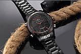 Мужские наручные кварцевые электронные часы Naviforce NF9024-BBR, фото 3