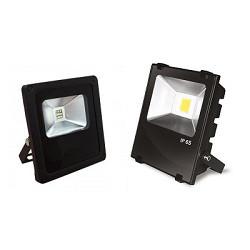Внешний вид уличных светодиодных LED ЛЕД прожекторов IP65 50 Вт из алюминия и металла
