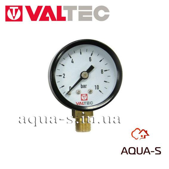 """Манометр с нижним подключением Valtec  D 40 мм (G 1/8"""") 10 бар (VT.TM40.D.01)"""