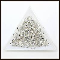 Соединительные колечки двойные d 7 мм h 0,7 мм св. серебро (500 грамм)