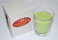 Свеча насыпная в стакане салатовая , фото 1