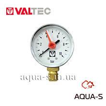 """Манометр с нижним подключением Valtec  D 50 мм (G 1/4"""") 10 бар (VT.TM50.D.02)"""