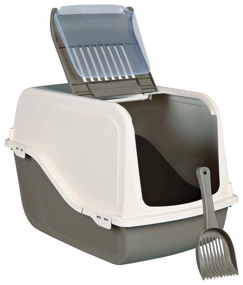 TRIXIE (Трикси) DANO OPEN TOP 40х56х40см- туалет закрытый для котов с фильтром и лопаткой, коричневый/кремовый