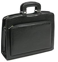 Женский портфель-саквояж из экокожи, Jurom Польша 0-35-111 черный