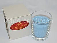 Свеча насыпная в стакане голубая, фото 1