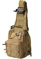 Тактический рюкзак однолямочный Silver Knight с системой M.O.L.L.E Coyote (098)