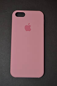 TPU + PC + MicroFiber Apple Silicone Case for iPhone 5 / 5s Pink (нежно-розовый)