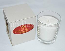 Свеча насыпная в стакане белая
