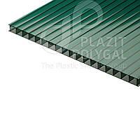 Сотовый поликарбонат Polyshade Израиль (спецвид), зелёный, 8 мм