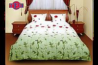 Комплект постельного белья семейный ТЕП Маки зеленые