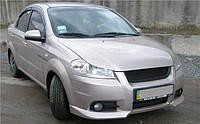Накладки на передний бампер CHEVROLET Aveo T250 (2006-...)