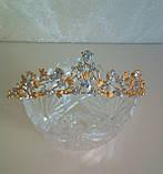 Корона, диадема, тиара под серебро, высота 3,5 см., фото 7