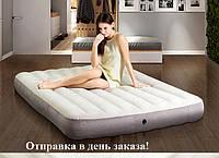Intex 64103 велюровый матрас 152-203-25см.