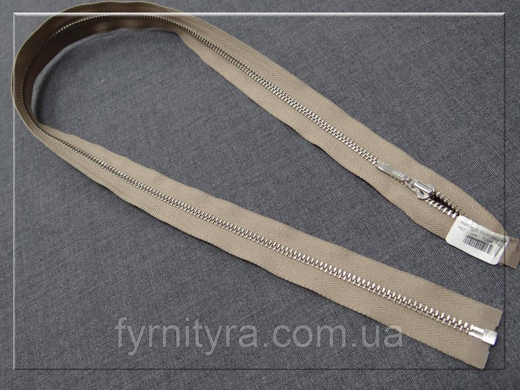 Металл YKK 70cm 810 кофе с молоком 1 бег №3 никель