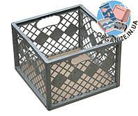 Ящик складной для хранения овощей/инструментов 360*360*25 мм (металлик)