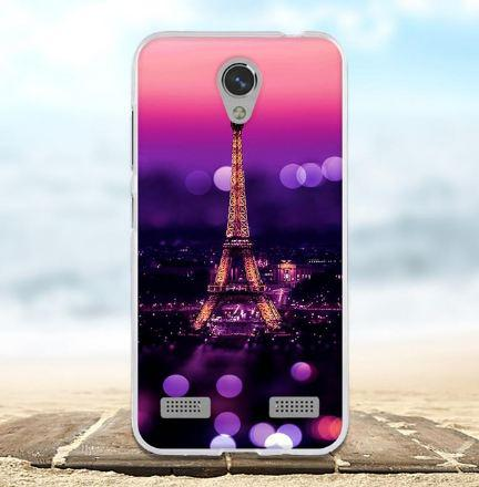 Силиконовый бампер чехол с принтом для ZTE Blade A520 Париж ночью