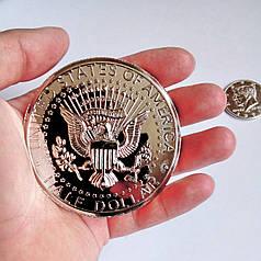 Реквізит для фокусів | Монета велика 7,5 см (50 центів)