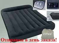 Intex 66781 велюровый матрас с электронасосом 152-203-30см.