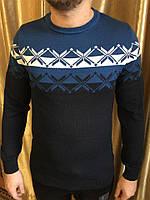 Тонкий мужской свитер с орнаментом