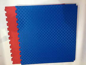 """Мат-татами Ланор """"ласточкин хвост"""" 20мм красно-синий, фото 2"""